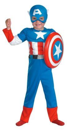 Captain America Muscle Toddler Costume: Size Toddler (3T-4T)
