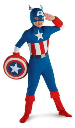 Captain America Classic Child Costume: Size Medium (7-8)