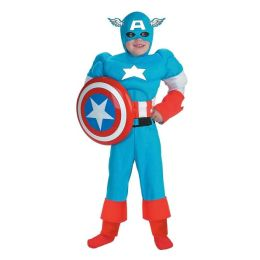 Captain America Deluxe Muscle Child Costume: Size Small (4-6)
