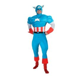 Captain America Deluxe Muscle Teen Costume: Size Teen