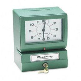 Acroprint 01-2070-40A Model 150 Heavy-Duty Analog Automatic Print Time Clock