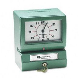 Acroprint 01-2070-411 Model 150 Analog Automatic Print Time Clock w/Month/Date/1-12 Hours/Minutes