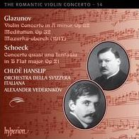 The Romantic Violin Concerto, Vol. 14: Alexander Glazunov & Othmar Schoeck