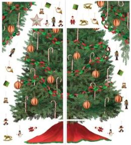 Roommates - RMK1203GM - Build A Christmas Tree - Peel And Stick Giant Mural