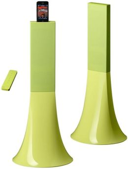 Parrot Zikmu Wireless Stereo Speakers by Philippe Starck - Set of 2 in Sorbet Lime