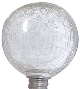 ALLSOP 29035 Solar-Powered Clear Globe Garden Art