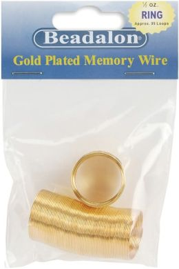 Gold Plated Memory Wire Ring .5 Oz/Pkg-Approx 99 Loops