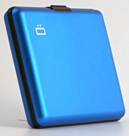 Aluminum RFID Smooth Wallet, Blue