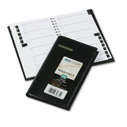 At-A-Glance 7006405 Deluxe Monthly Pocket Planner Unruled 3-1/2 x 6-1/8 Black