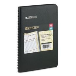At-A-Glance 70LL2005 LifeLinks Weekly/Monthly Planner Desk Size 4-7/8 x 8 Black
