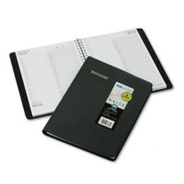 At-A-Glance 7022205 Two-Person Group Practice Daily Appointment Book 8 x 10-7/8 Black