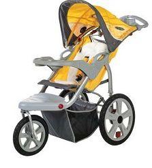 2010 InSTEP Grand Safari Swivel Jogging Stroller In Yellow/Gray