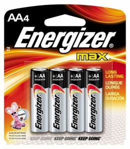 AA Alkaline Batteries 4 Pack