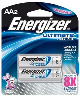 AA Lithium Batteries 2 Pack