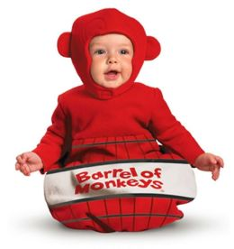 Barrel of Monkeys Infant Costume: Size 0-6 Months