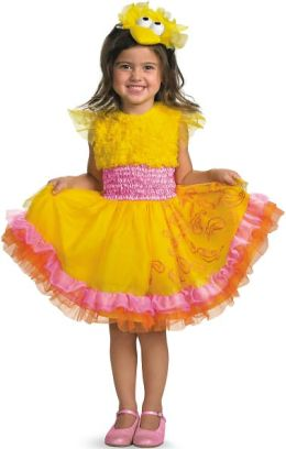 Sesame Street - Frilly Big Bird Toddler / Child Costume: Small (4/6X)