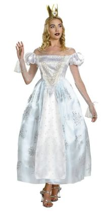 Alice In Wonderland - White Queen Deluxe Adult Costume: Large (12-14)
