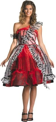 Alice In Wonderland - Alice Red Court Dress Adult Costume: Medium (8-10)