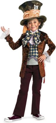 Alice in Wonderland Movie - Mad Hatter Child Costume: Medium (7/8)