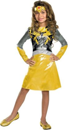 Transformers 3 Dark of the Moon Movie - Bumblebee Girl Toddler / Child Costume: Small (4-6x)