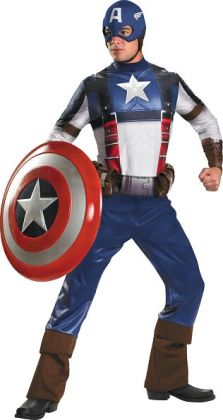 Captain America Movie - Captain America Deluxe Adult Costume: X-Large (42-46)