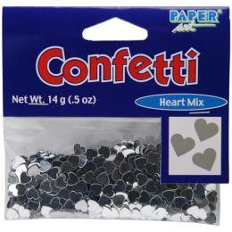 Confetti 1/2 Ounce-Hearts - Silver