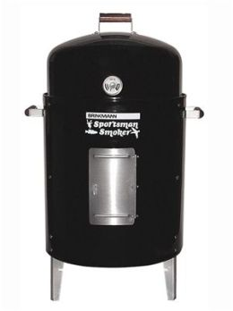 Brinkmann 815-3060-4 Sportsman Charcoal Smoker & Grill- Black