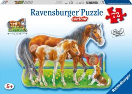 Happy Horses 72 Piece Shaped Puzzle