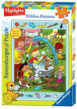 Highlights Dog Wash 35 Piece Hidden Pictures Puzzle