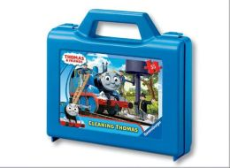 Thomas & Friends 35 Piece Puzzle in a Suitcase Box, Cleaning Thomas