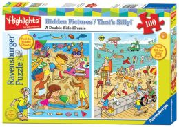 Highlights At the Beach 100 Piece That's Silly & Hidden Pictures Puzzle