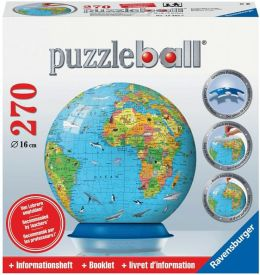Children's Globe 270 Piece Puzzleball with Booklet