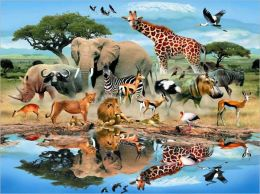 Watering Hole - 300 piece puzzle