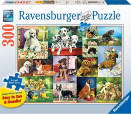 Puppy Collage 300 pc large format puzzle