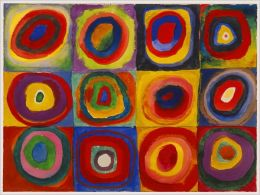 Kandinsky: color Study of Squares and Circles 1500 pc puzzle