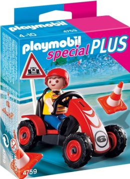 Playmobil Boy with Racing Car