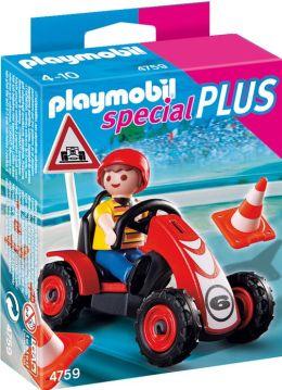 Playmobil Boy with Racing Car