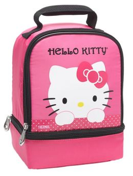 Hello Kitty Pink Dual Compartment Lunch Tote