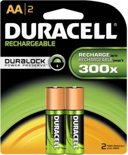 Duracell AA 2PK Rechargeable batteries