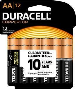 Duracell Usa 12 Count AA Cell Duracell Coppertop Alkaline Batteries MN15RT12Z