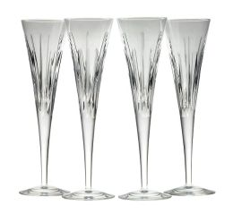 Crystal Soho Flutes - Set of 4 with Toasts Book