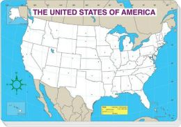 Carson Dellosa US Jumbo Map Pad - Blank