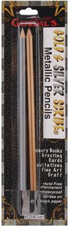 Metallic Scribe Pencils 2/Pkg-Silver & Gold