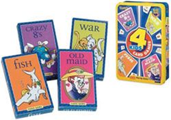Fundex 3225 Kids 4 Card Games In A Tin