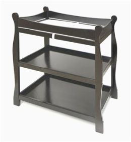 Badger Basket 02234 Black Sleigh Style Changing Table