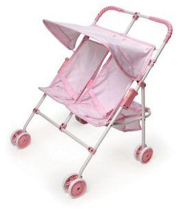 Double Umbrella Doll Stroller