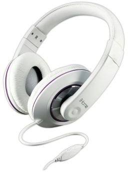 iHome IB40WU Stereo Headphones with In-Line Volume Control