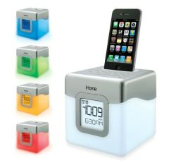 iHome IP18W LED Color Changing Dual Alarm Clock Speaker System for iPhone/iPod