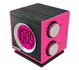 Realtone RT205P AM/FM Dual Alarm Clock Radio - Pink