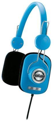 Realtone RT62L Retro-Style Hi-Fi Stereo Headphones - Blue